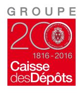 Logo Groupe Caisse des dépôts – 200 ans : 1816-2016